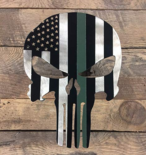 Fox MetalFab Powder Coated Trailer Hitch Cover Punisher (Army Green)