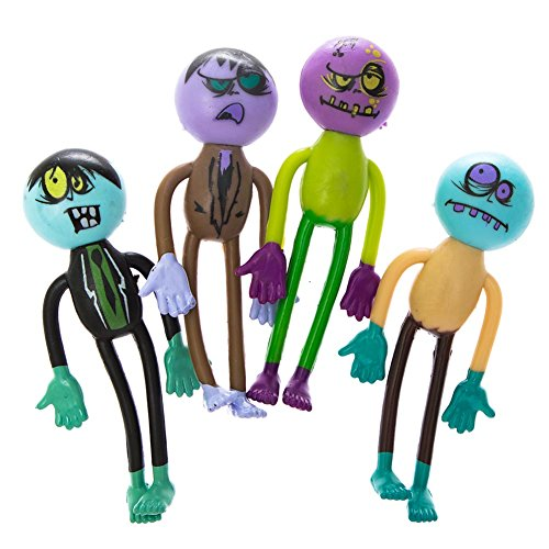 Assorted Bendable Zombie Action Figures