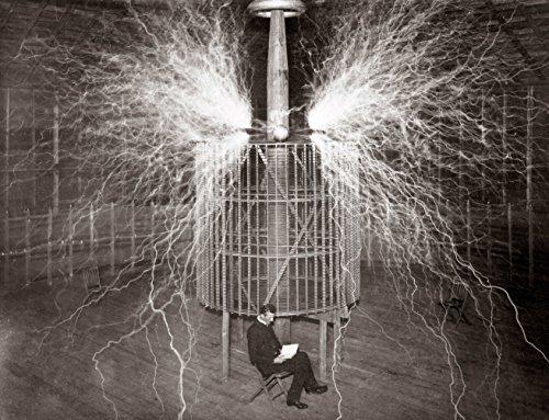 - NIKOLA TESLA LAB GLOSSY POSTER PICTURE PHOTO electricity light bulb (24