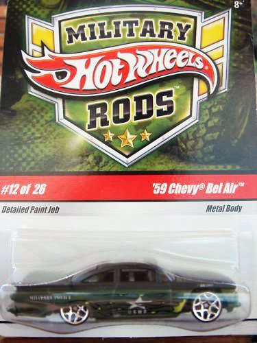 HOT WHEELS MILITARY RODS '59 CHEVY BEL AIR