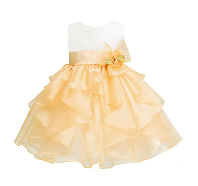 783155f0815e Amazon.com  Baby-Girls KID Collection Layered Organza Ruffle Skirt ...