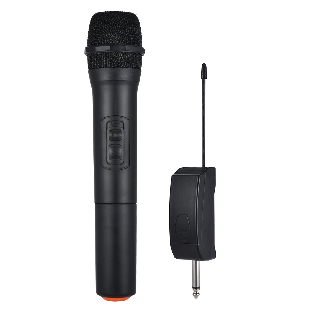 Walmeck Wireless Microphone Handheld Wireless Microphone Mic System 5 Channels for Karaoke Business Meeting Speech Home Entertainment