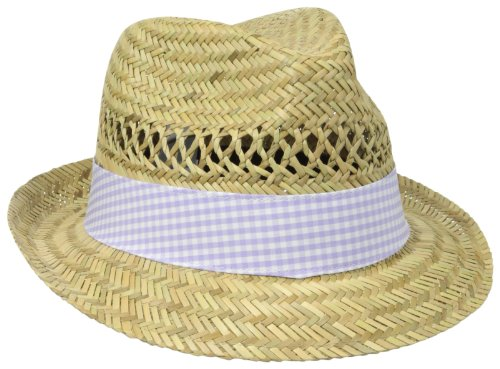 Columbia Sun Drifter Women's Straw Hat, Natural/Whitened Violet Gingham, One Size