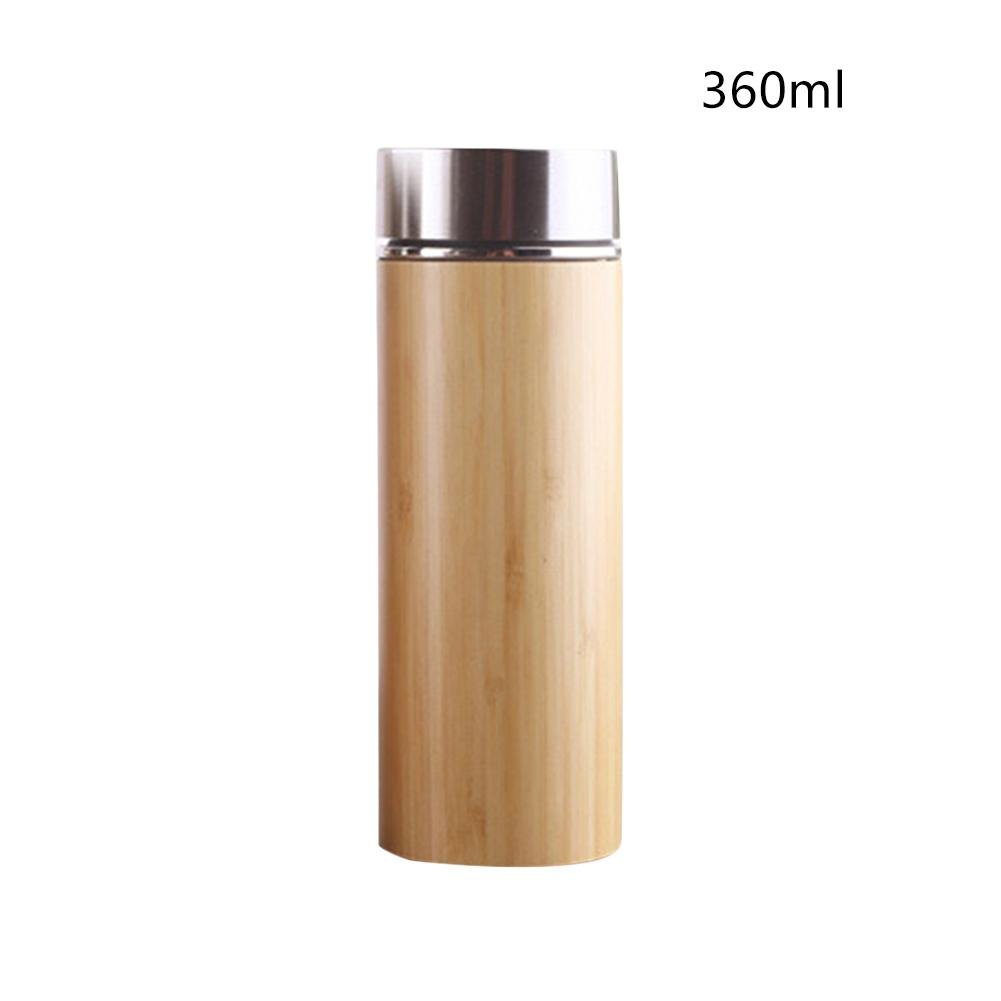 Softwind Personality Teacup Natural Bamboo Thermos Cup Stainless Steel Bottle Vacuum Flasks Thermoses 12hours Tea Cup Business Teacup Thermos Cup Vacuum Cup