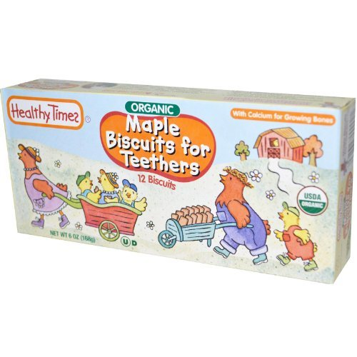 Maple Biscuits for Teethers, 12 Biscuits, 6 oz (168 g) by Healthy Times