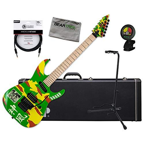 ESP Ltd. KAMI-4 Graphic George Lynch Signature Guitar w/Case, Tuner, Stand, Clot