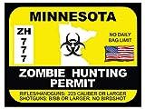 Minnesota Zombie Hunting Permit (Bumper Sticker)