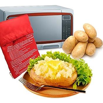 Amazon.com: MyLifeUNIT Microwave Potato Bag, Baked Potato Microwave on reheating baked potato in microwave, baked sweet potato microwave, bake cookies in microwave, steak in microwave, oven baked potato in microwave, burrito in microwave, pop popcorn in microwave,