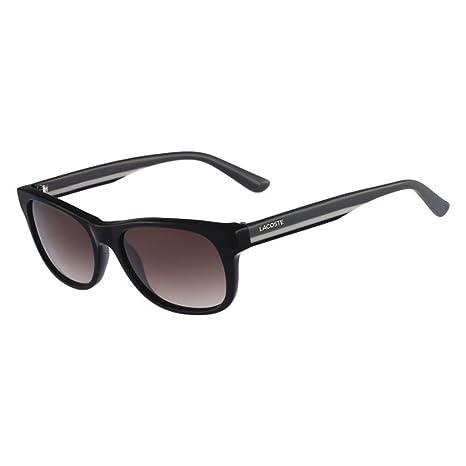 8ea4527748a2 Lacoste Sunglasses L736S 001 Black   Grey Striped Brown Gradient   Amazon.ca  Luggage   Bags