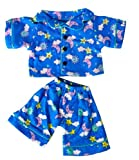 Sunny Days Blue Pj's Teddy Bear Clothes Outfit Fits Most 14