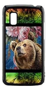 HeartCase Hard Case for Google Nexus 4 LG E960 ( Sketch Bear Animal Art )