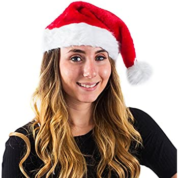 7d0e1df27dbb4 Christmas Theme Santa Hats for Adults - Christmas Headwear by Funny Party  Hats