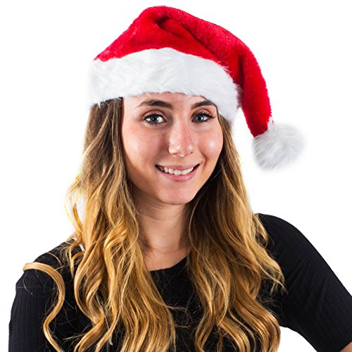 Christmas Theme Santa Hats for Adults - Christmas Headwear by Funny Party Hats - Party Hats Entertainment