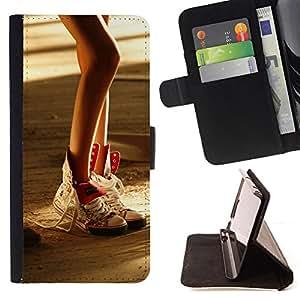 Jordan Colourful Shop - Design Sexy Leg For Sony Xperia M2 - < Leather Case Absorci????n cubierta de la caja de alto impacto > -