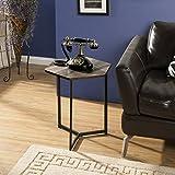 Homestar Z1710265 Hexagon Side Table End, Brown Oak