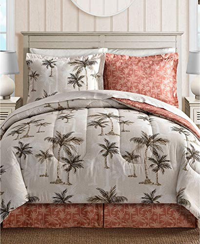 Fairfield Square Collection Palm Tree Reversible 8 Piece King Comforter Set (Sets Fairfield Comforter)