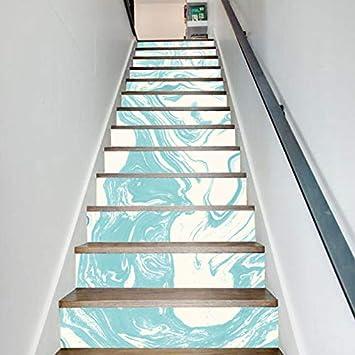 Conjunto De 6 Piezas Pegatinas De Escaleras Escalera De Tinta Pintura Pegatinas De Pared Decoración Del Hogar Tema Diy Pegatinas Decorativas Papel Tapiz 18 * 100cm: Amazon.es: Bricolaje y herramientas