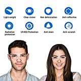 Blue Light Blocking Glasses, 2Pack Cut UV400