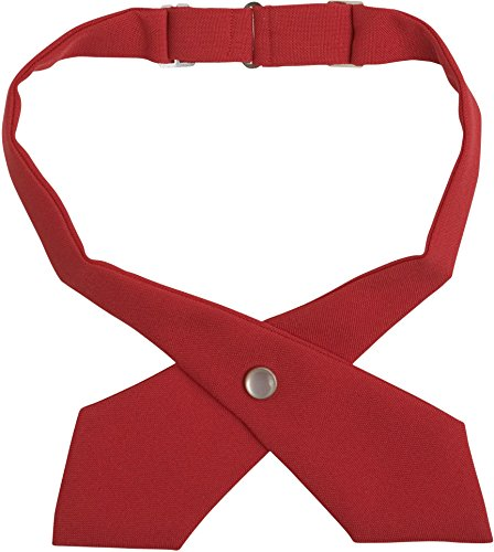French Cross (French Toast School Uniforms Girls Adjustable Solid Color Cross Tie, Red, One Size)