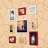 ZYANZ Modern Fashion Photo Wall, Pine Rectangular Free Combination Photo Frame (9 Packs)