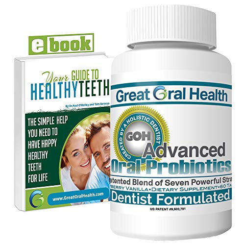 Chewable Oral Probiotics ~Dentist Formulated 60 Lozenge Bottle ~Attack Bad Breath, Cavities and Gum Disease ~Bad Breath Treatment~Contains BLIS M18 and BLIS K12~83 Page eBook Included! (Home Remedies For Bleeding Gums And Bad Breath)