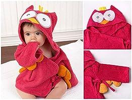 AOLVO algod/ón suave beb/é toallas de ba/ño de albornoz con capucha cute cartoon animal face para ni/ños 0/ /36/meses 1 Talla:S Beb/é albornoz de tibur/ón