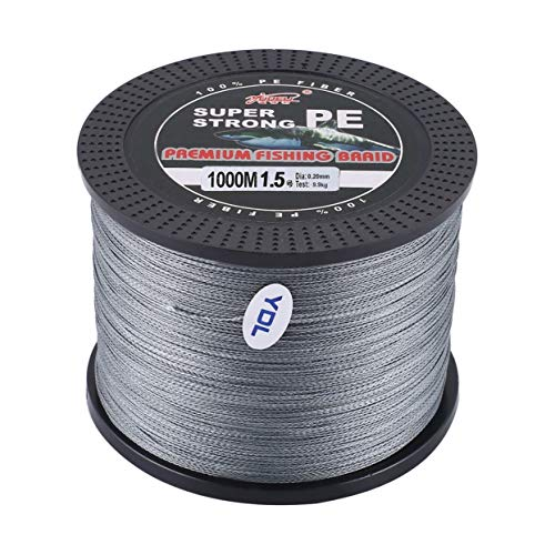 - anyilon 1.5# Line Number Super Strong 4 Strand 1000M Premium PE Braided Fishing Line Lake Multifilament Wire Woven Thread
