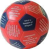 "Talicor U.S. Citizenship Thumball 3 Pc Set-6"" Learning Ball Game"