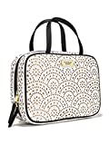 Victoira's Secret White/ Metallic Gold Laser Cut Travel Case Duo