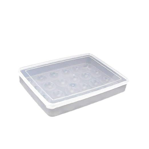Grifri 24 Hoyos Cajas de Almacenamiento de plástico Transparente ...
