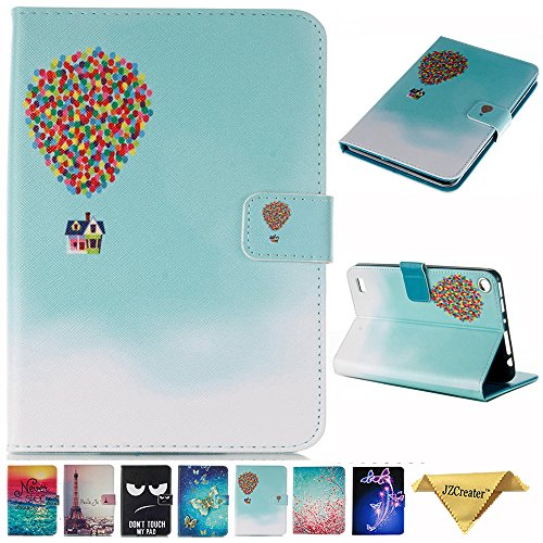 Folio Case for Kindle fire 7, JZCreater Slim Leather Smart Case Cover with Auto Wake/Sleep for All-New Amazon Fire 7 Tablet (7inch Display 5th Generation 2015 & 7th Generation 2017), Balloon -