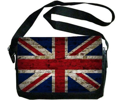 United Kingdom Flagレンガ壁デザインメッセンジャーバッグ   B00F1YDEYO