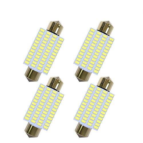 Super Bright 578 LED Bulb(4 Pack) 48 SMD 3014 Chips 41mm 42mm 1.65 Inch 211-2 212-2 569 578 6411 Festoon LED Bulb used for Interior Map Dome Lights-White