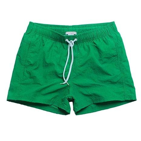 YKCOOL Traje de baño Malla Forrada para Hombre Pantalones Cortos ...