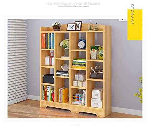 Amazon.com: Bookcase Simple Floor Bookcase Modern Minimalist Storage ...
