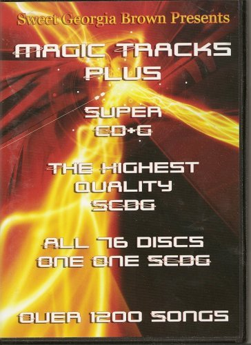 Magic Tracks Karaoke Super CD+G 1200 Songs Plays on CAVS or Windows System with DVD ROM Sweet Georgia Brown (Cdg Recording Karaoke System)