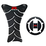 Real Carbon Fiber 3D Sticker Vinyl Decal Emblem Protection Gas Tank Pad & Cap Cover For SUZUKI Gixxer GSXR 600 750 2006-2016 / GSXR1000 2007-2008 GSXR1300 Hayabusa 2008-2016