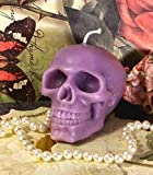 Beeswax Light Purple Skull Candle Free USA Shipping