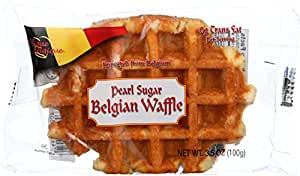 Authentic Imported Pearl Sugar Belgian Waffles (4 Count)
