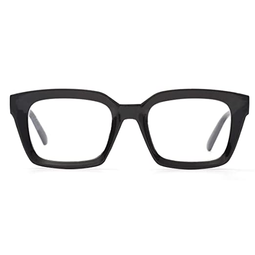 affb25acb9 Fashion Oprah Style for Women Nerd Eyeglasses Square Big Frames Large Clear  Lens-can replace