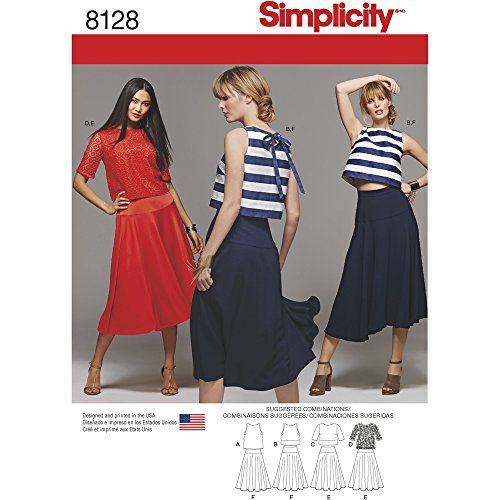 - Simplicity Creative Patterns 8128 Misses' Two Piece Dress, H5 (6-8-10-12-14)