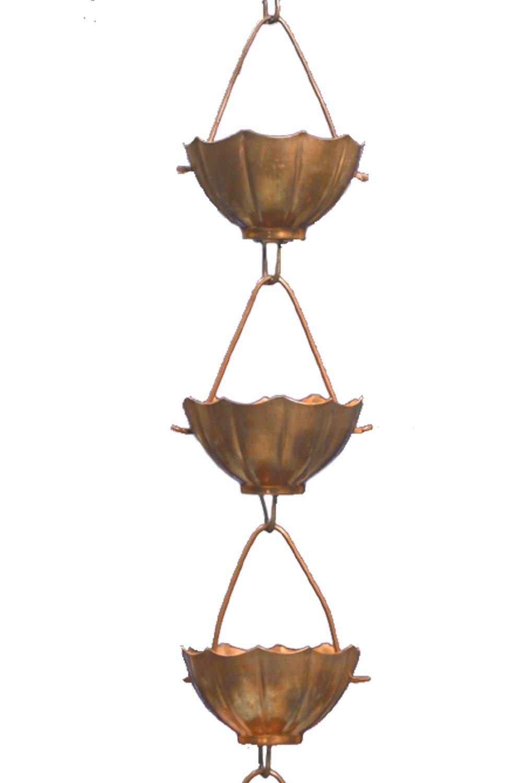 Monarch Pure Copper Umbrella Rain Chain Extension, 3 Feet Length