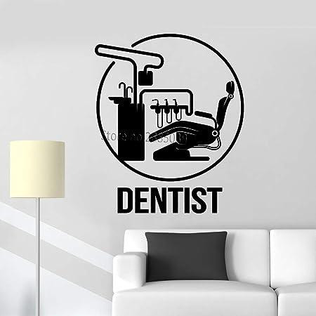 Modeganqingg Clinique Chaise Affiche Dentiste Logo Sticker