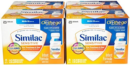 Similac Sensitive - Infant Formula with Iron 8 fl oz bottle / Case of 24