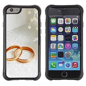 LASTONE PHONE CASE / Suave Silicona Caso Carcasa de Caucho Funda para Apple Iphone 6 / Couple Ring