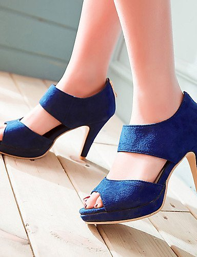 ShangYi Women's Shoes Heel Heels / Peep Toe / Platform Sandals / Heels Outdoor / Dress / Casual Black / Blue / Green / Purple Green