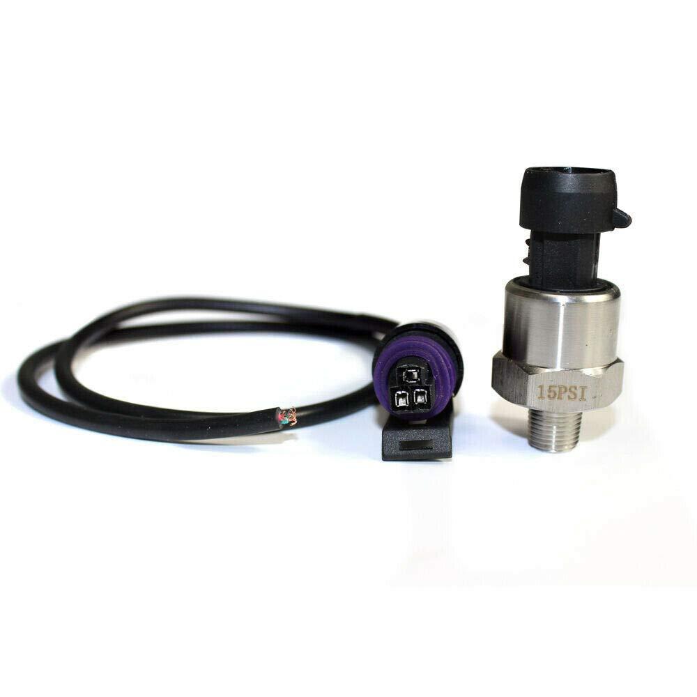 "0-15 PSI 5V Pressure Transducer//Sender 1//8/""-27 NPT Ceramic Pressure Chip Sensor Stainless Steel for Oil//Fuel//Water//Air Pressure"