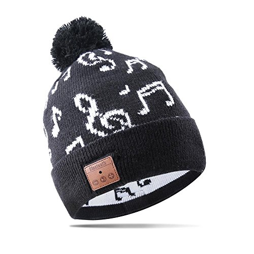 (Bluetooth Hat Wireless Smart Headset Musical Knit Cap For Fitness Outdoor Sports Skiing Running Skating Walking)