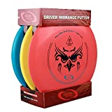 Qadira Disc Golf Set With 3 Discs(1 driver, 1 mid-range and 1 putter) For Beginner/Starter/Age 6+ Outdoor Sports/Games.