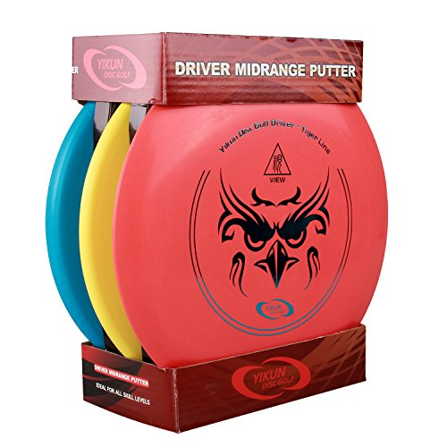 Qadira Disc Golf Ultimate Frisbee Set With 3 Discs(1 driver, 1 mid-range and 1 putter) For Beginner/Starter/Age 6+ Outdoor - Targets Near Me Stores